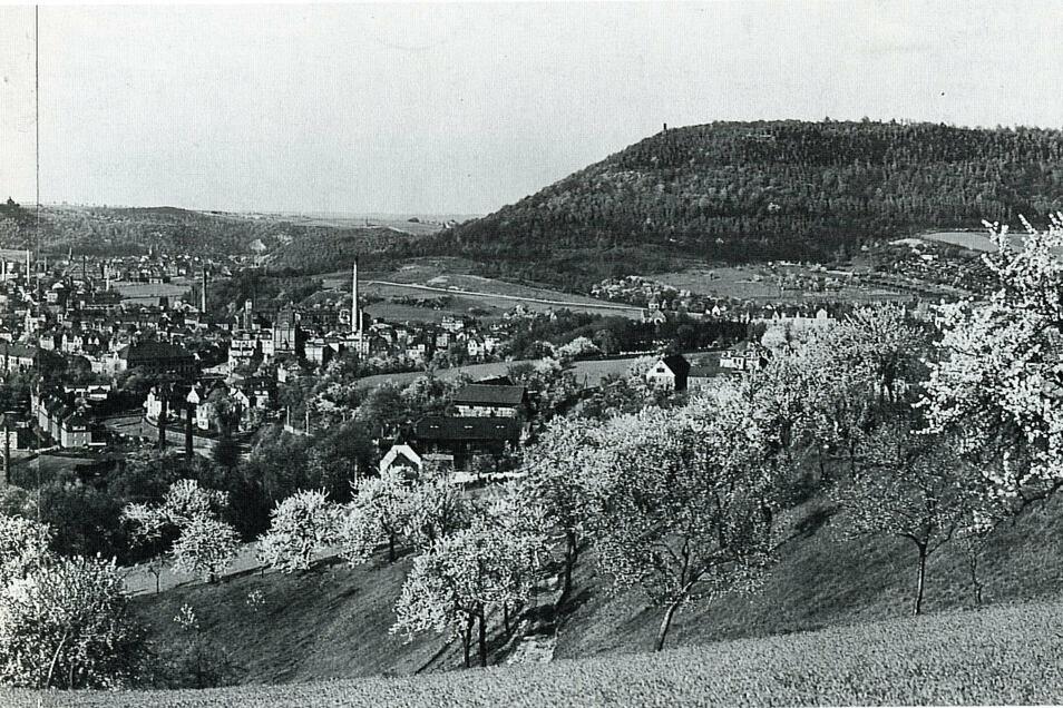 Blick von der Schweinsdorfer Höhe in den Freitaler Talkessel. Eine faszinierende Ansicht.