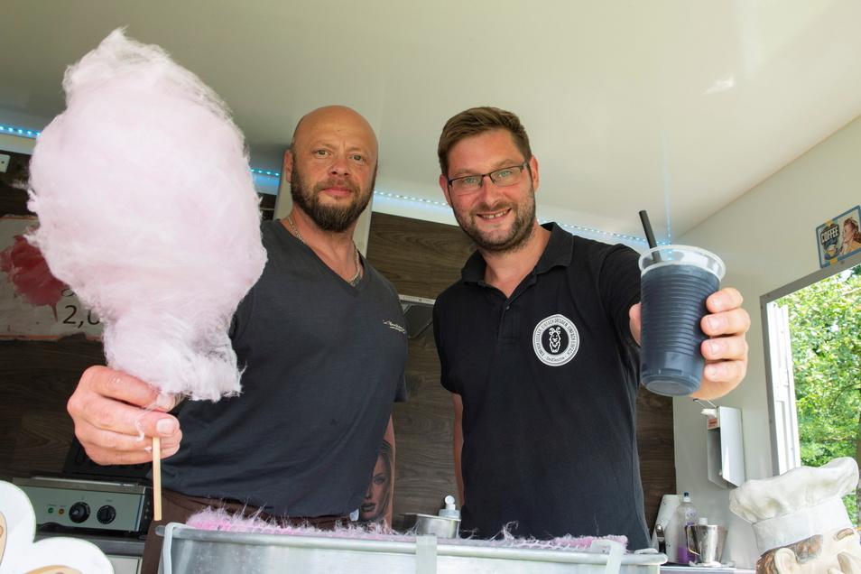 Zuckerwette hatte Maik Rode und einen neuartigen Gin-Tonic-Slush Lars Ziesche von deZschiesche.