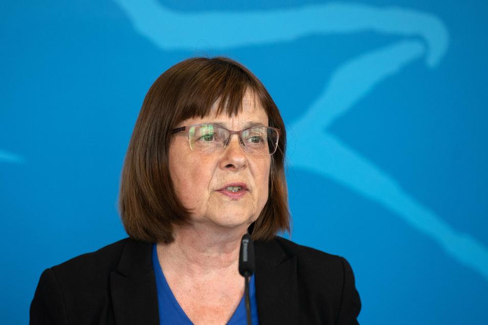 Ursula Nonnemacher (Bündnis 90/Die Grünen), Ministerin für Soziales, Gesundheit, Integration und Verbraucherschutz sowie stellvertretende Ministerpräsidentin.