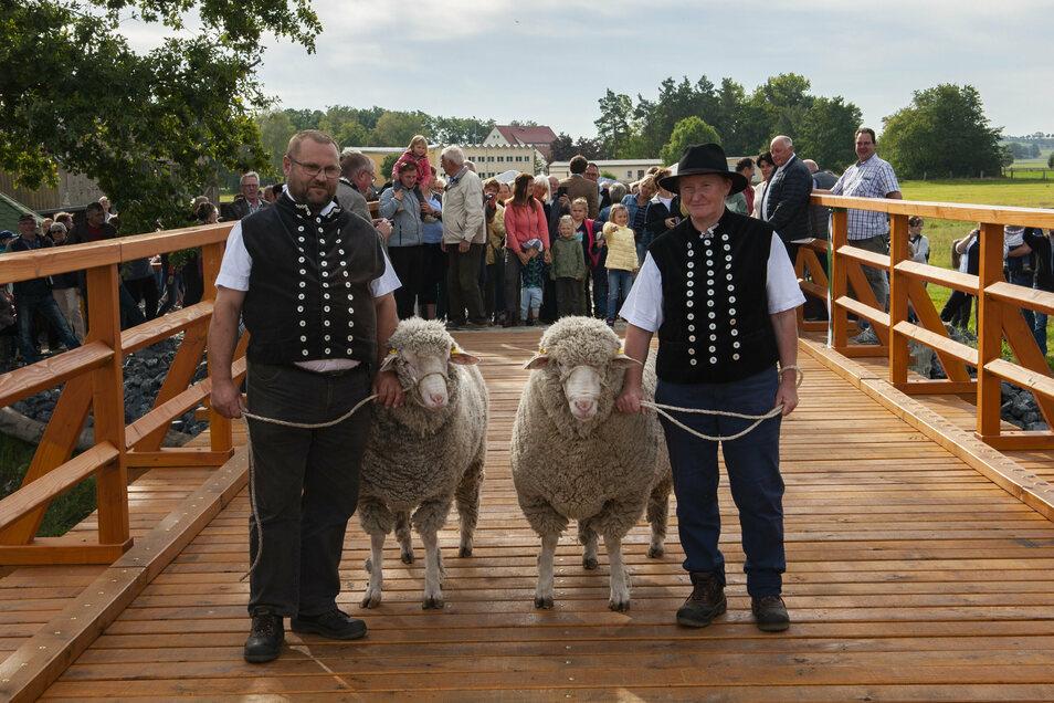 Am 3. Oktober 2020 wurde die Schafbrücke Kalkreuth mit den Tieren von Schäfer Schneider wiedereröffnet.