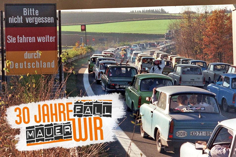 Nach der Öffnung der Grenze fuhren Tausende Ostdeutsche in den Westen. Für die meisten war es nur ein Ausflug, doch in den Monaten und Jahren nach dem 9. November 1989 zogen Millionen endgültig nach Westdeutschland.