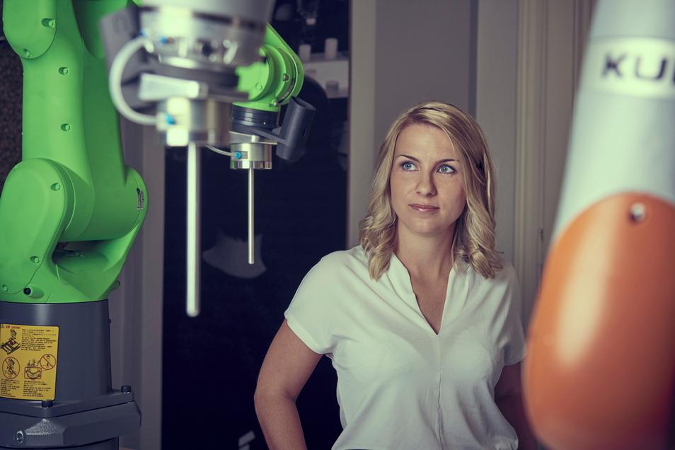 Von Horka aus als Sachsens Botschafterin zum Tag der Deutschen Einheit nach Halle/Saale: Maria Tschierske, jetzt Piechnick, ist mit einem Start-up in der Robotertechnik zu Hause und vertritt ihre Lausitzer Heimat bei der zentralen Feier.