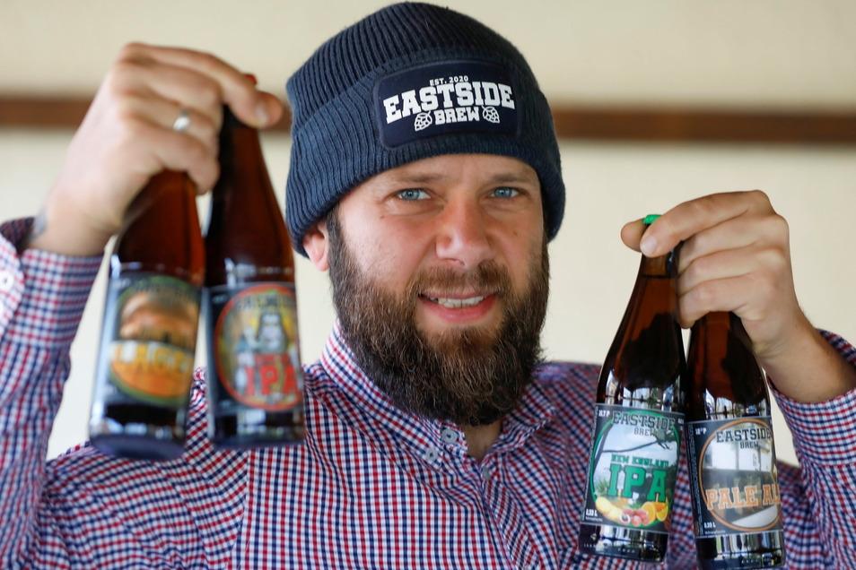 Daniel Helbig betreibt jetzt eine kleine Brauerei in Mittelherwigsdorf. Und die Nachfrage nach seinem Bier ist groß.
