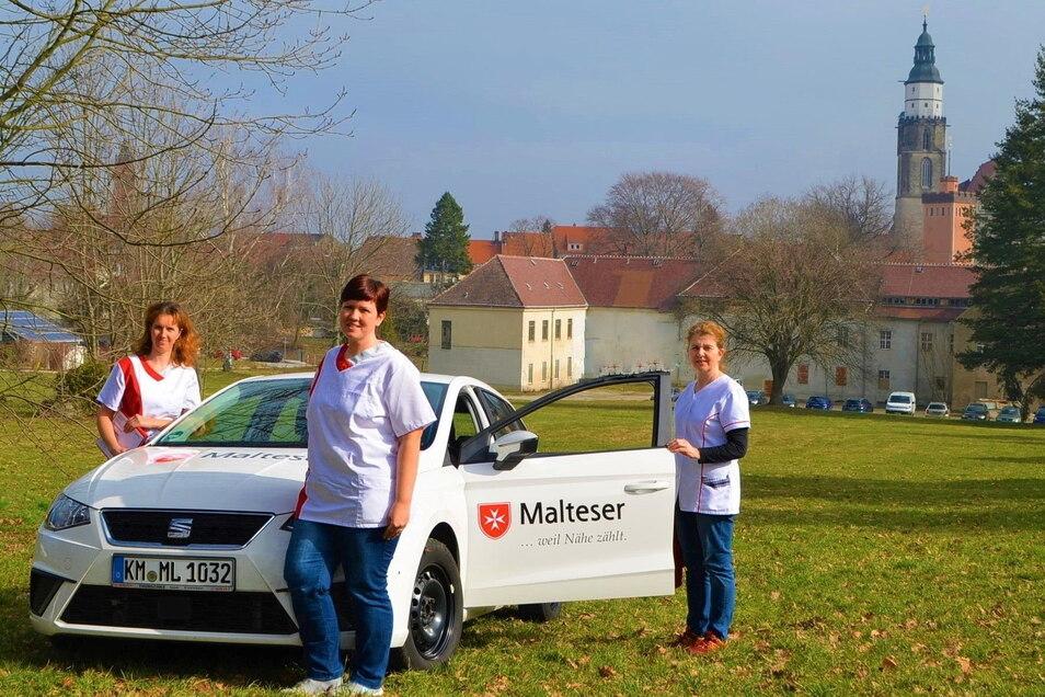Jadwiga Gärtner, Madlen Techritz und Sybille Teichmann (v.l.) sind das neue Leitungsteam des Malteser Ambulanten Pflegedienst Kamenz.