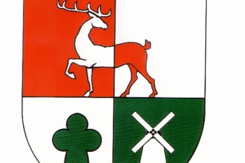 Wappen der Gemeinde Hirschstein.