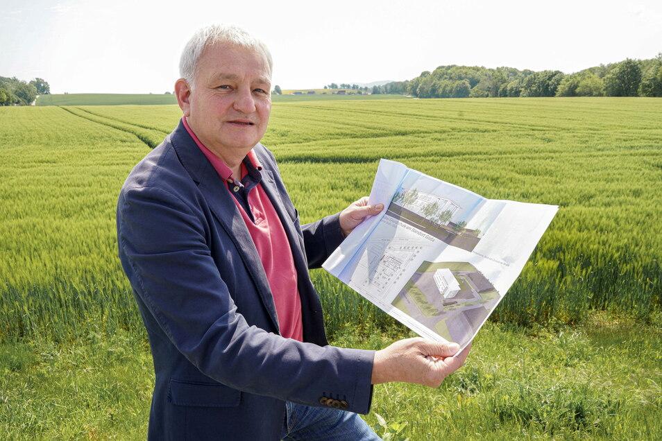 Auf diesem Feld neben der Bäckerei Fehrmann in Göda hätten Bürgermeister Gerald Meyer und sein Gemeinderat gern die neue Oberschule entstehen sehen. Aus dem Vorhaben wird nichts - wenigstens vorerst.