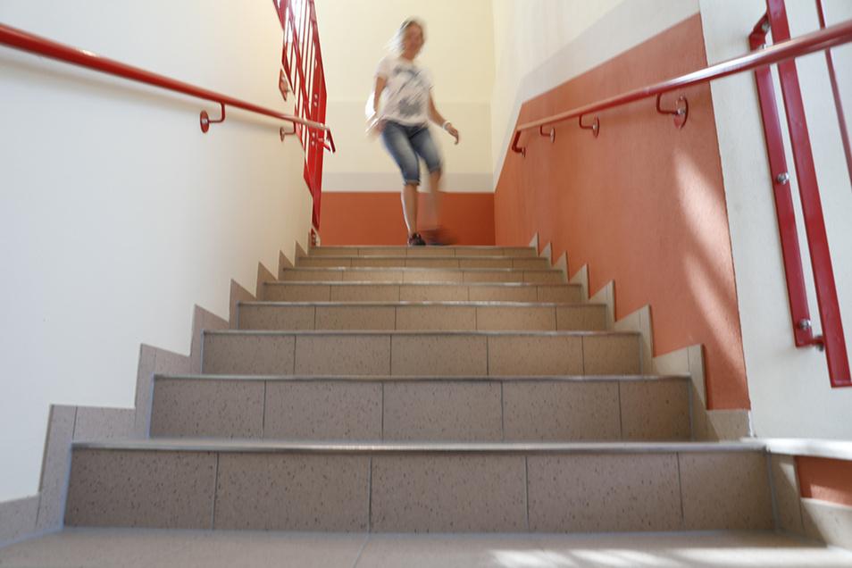 Im Altbau wurde ein zusätzliches Treppenhaus als zweiter Rettungsweg errichtet.