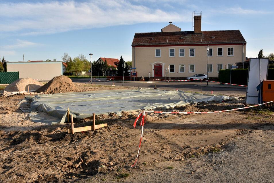 Am Neumarkt wird gebaut.