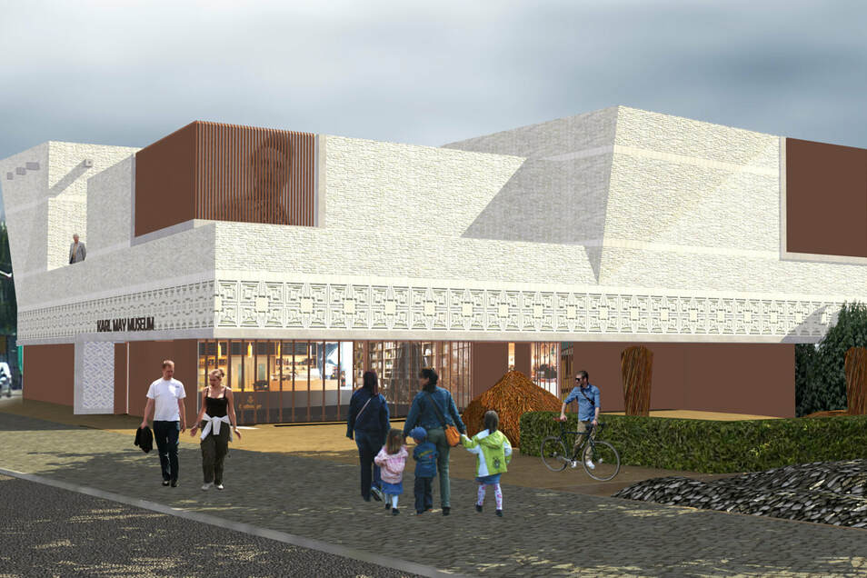 Was aus dem Neubauprojekt fürs Karl-May-Museum an der Meißner Straße wird, ist derzeit völlig offen.