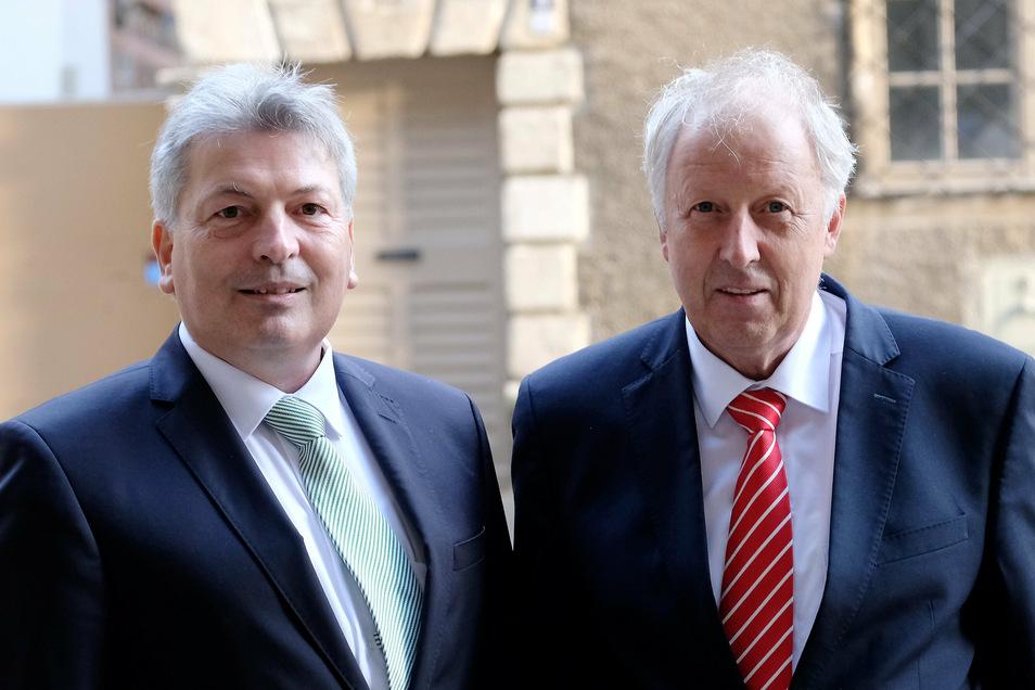 Zwei alte Freunde: Der Landrat mit dem ostdeutschen Sparkassenpräsidenten Michael Emrich.