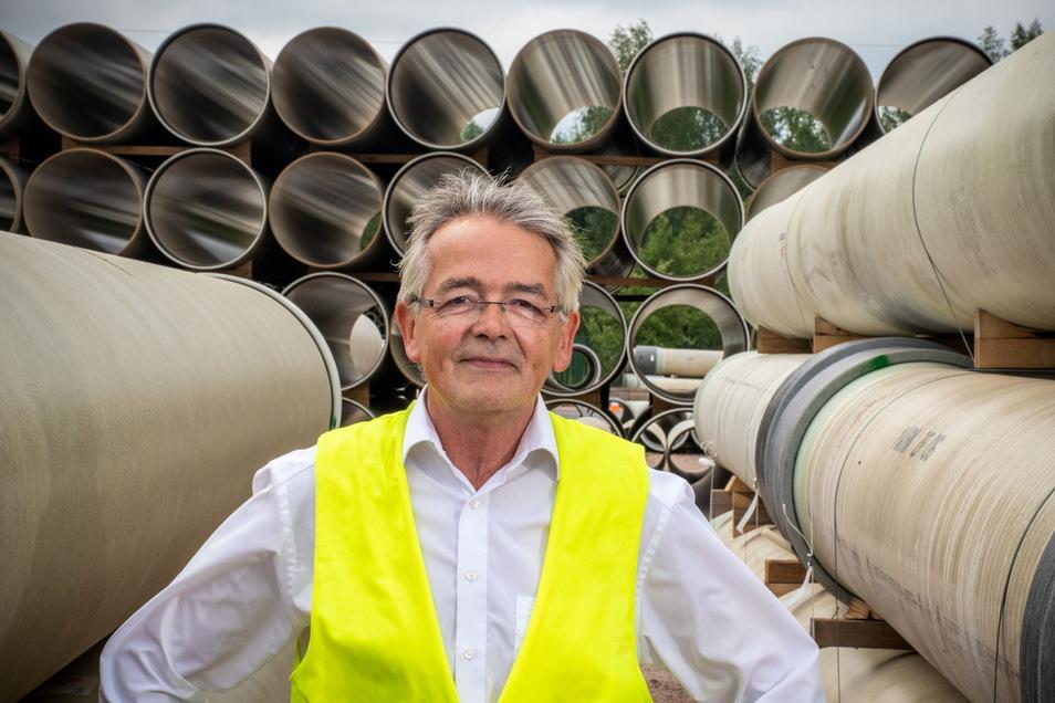 Im Sommer vergangenen Jahres hatte Helmut Straden die Leitung des Werkes von Amiblu in Döbeln übernommen.