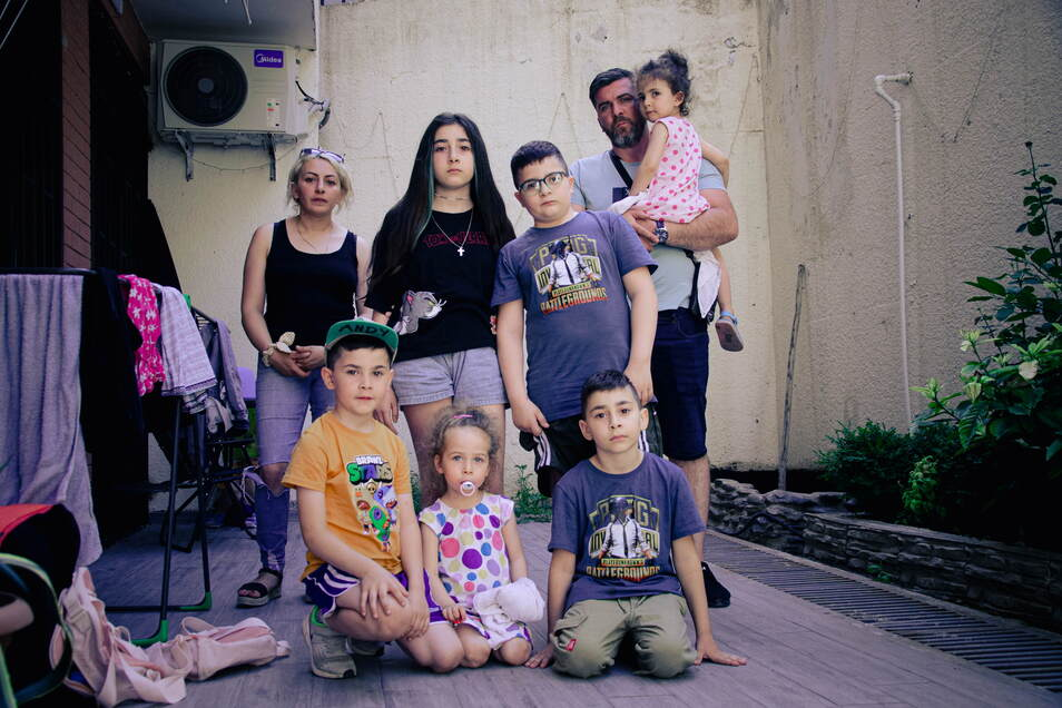 Familie Imerlishvili hat acht Jahre in Pirna gelebt. Vor einem Monat wurde sie nach Georgien/Tiflis abgeschoben.