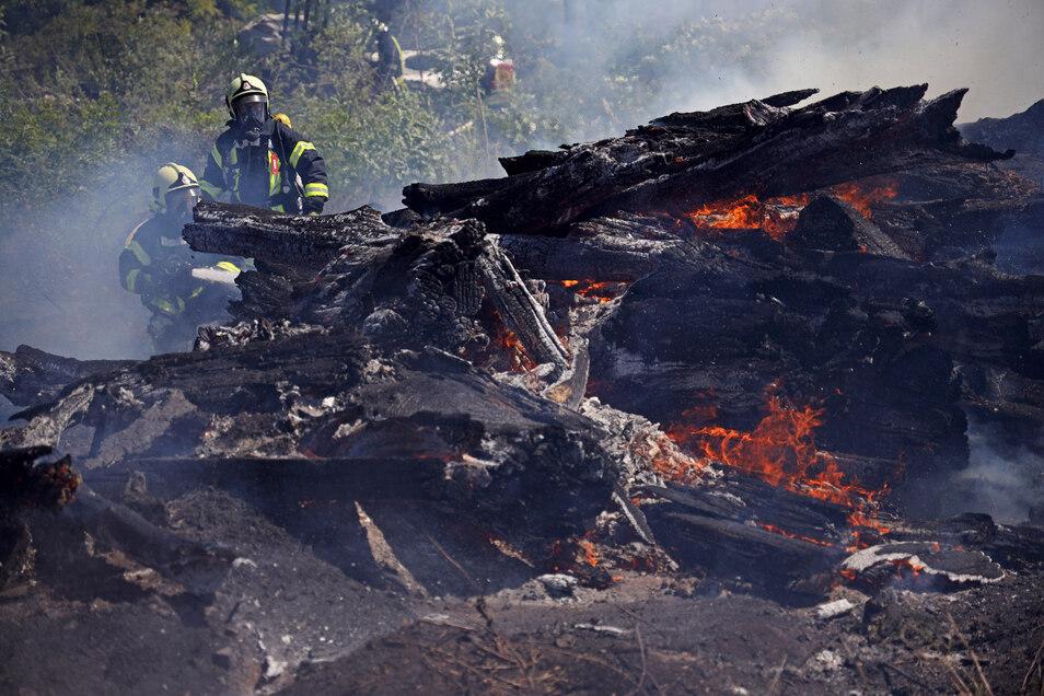 So leicht gehen die brennenden Bäume nicht aus.