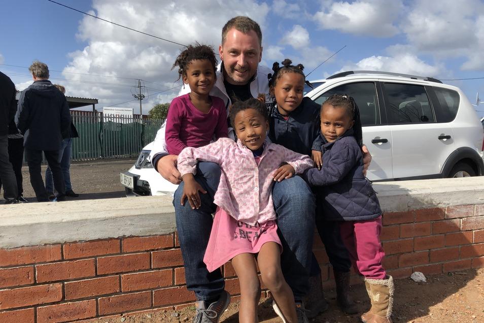 Autohaus-Dresden-Geschäftsführer Christian Schleicher bei einem Besuch in Südafrika