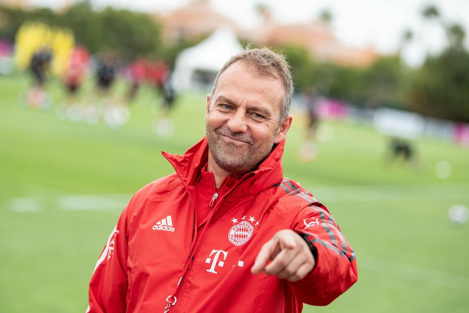 Bayerns Trainer Hansi Flick steht mit seiner Mannschaft im Finale der Champions League.
