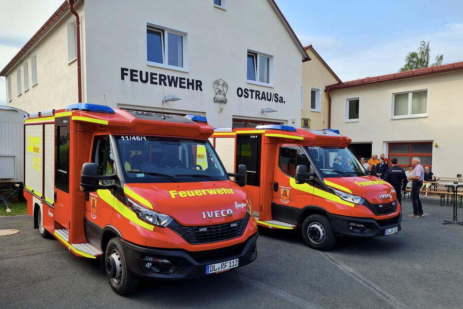 Die neuen Tragkraftspritzenfahrzeuge mit Wasser (TSF-W) sind nun einsatzbereit. Die Feuerwehren Rittmitz und Schrebitz haben sie übernommen.
