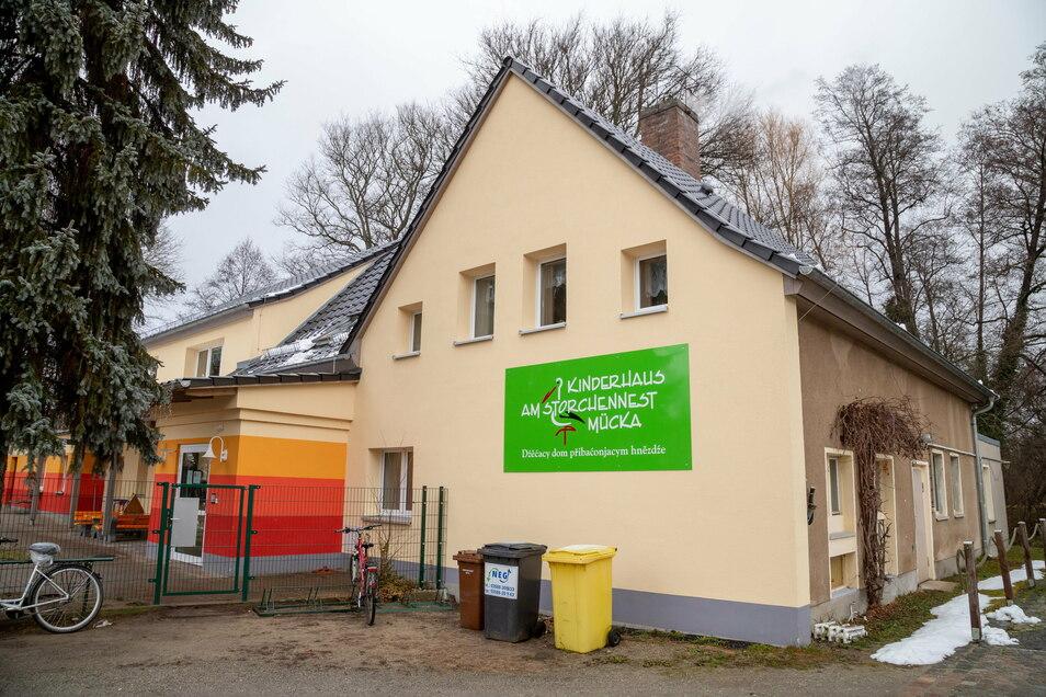 """Im Kinderhaus """"Am Storchennest"""" in Mücka gibt es einen Corona-Fall im Kindergarten. Aber nicht alle Kinder müssen in Quarantäne."""