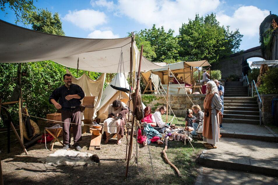 Mittelalter-Lager im Nikolaizwinger: Was sonst während des Altstadtfestes zu erleben ist, soll es in diesem Sommer unabhängig davon trotzdem geben.