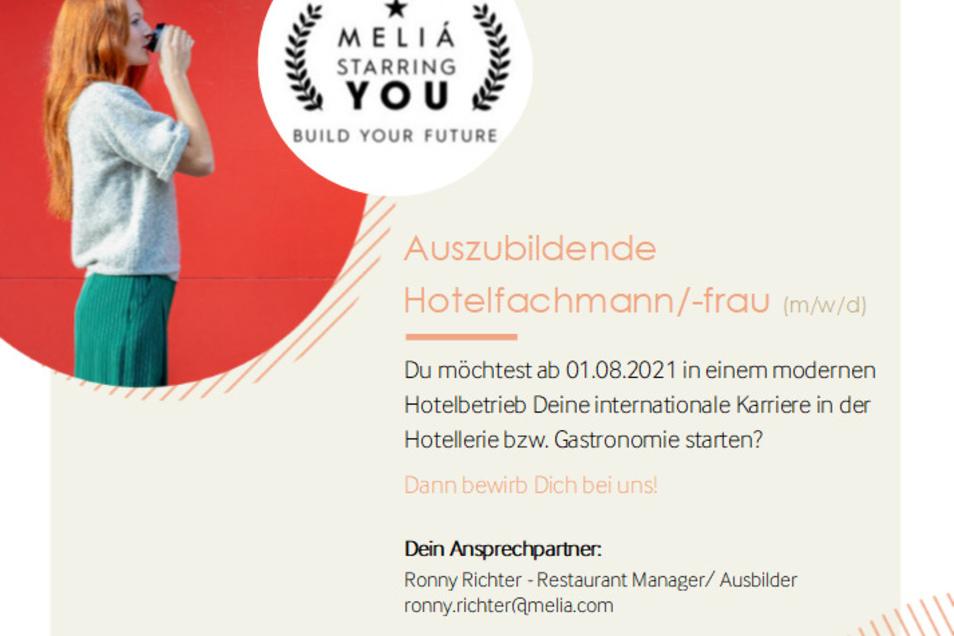 Bewirb dich jetzt bei Melía Dresden!