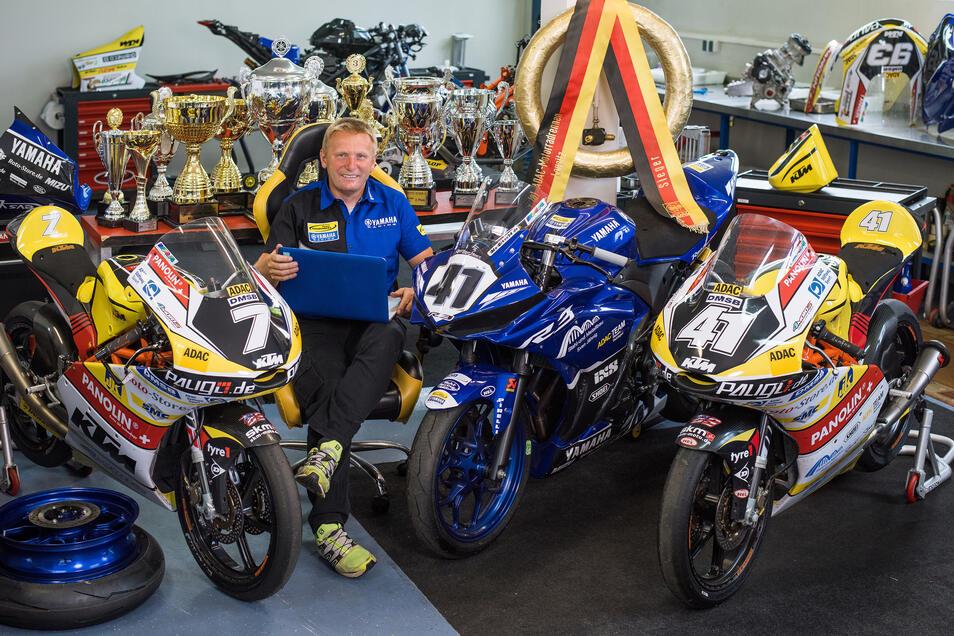 Carsten Freudenberg, Teamchef und Namensgeber des Bischofswerdaer Racing Teams, muss sich in Geduld üben.