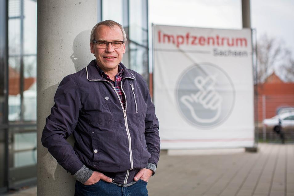 Ingolf Roßberg ließ sich am Samstag in Dresden gegen das Coronavirus impfen.