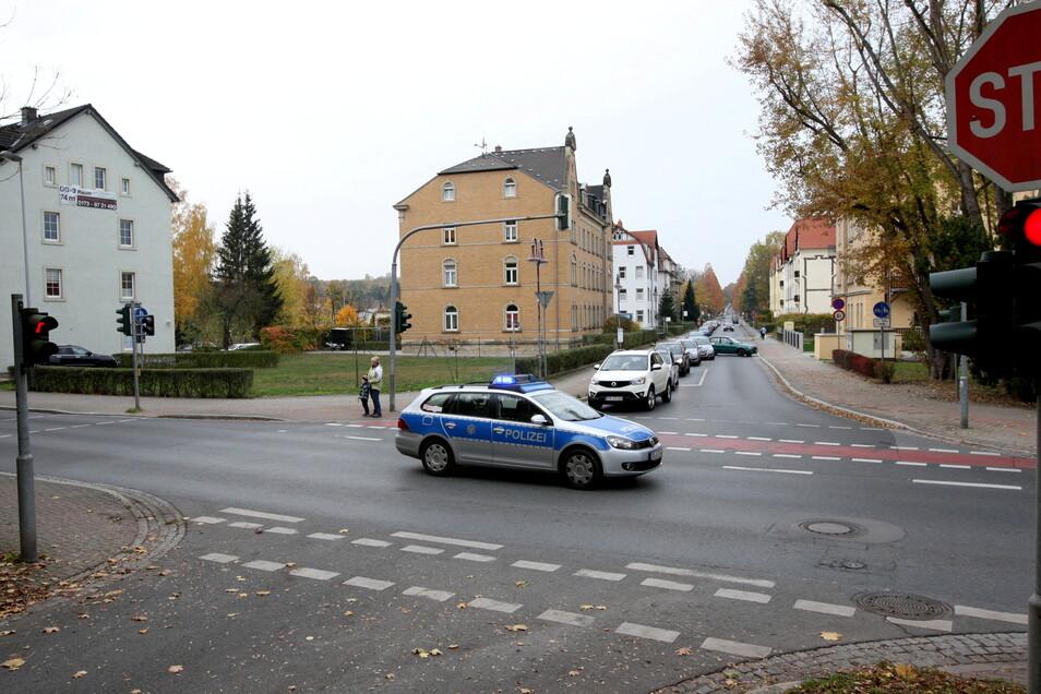 Kreuzung Zehistaer Straße/Kohlbergstraße in Pirna: Verkehrs-Engpass bis Anfang Oktober.