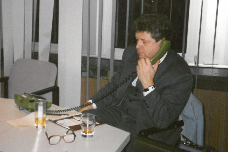 1989 arbeitete Hans-Jürgen Mühle im Außendienst für den Glashütter Uhrenbetrieb (GUB).