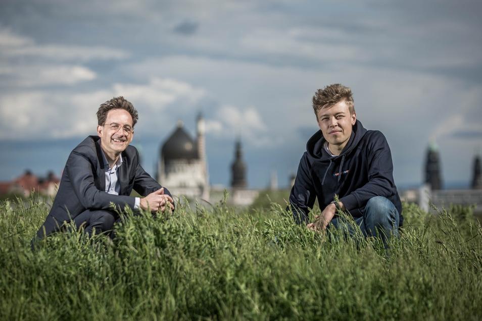 Wollen den Hebel in Dresden rechtzeitig umlegen: Christoph Röllig (l.) und Moritz Piepel sind die Initiatoren von DresdenZero.