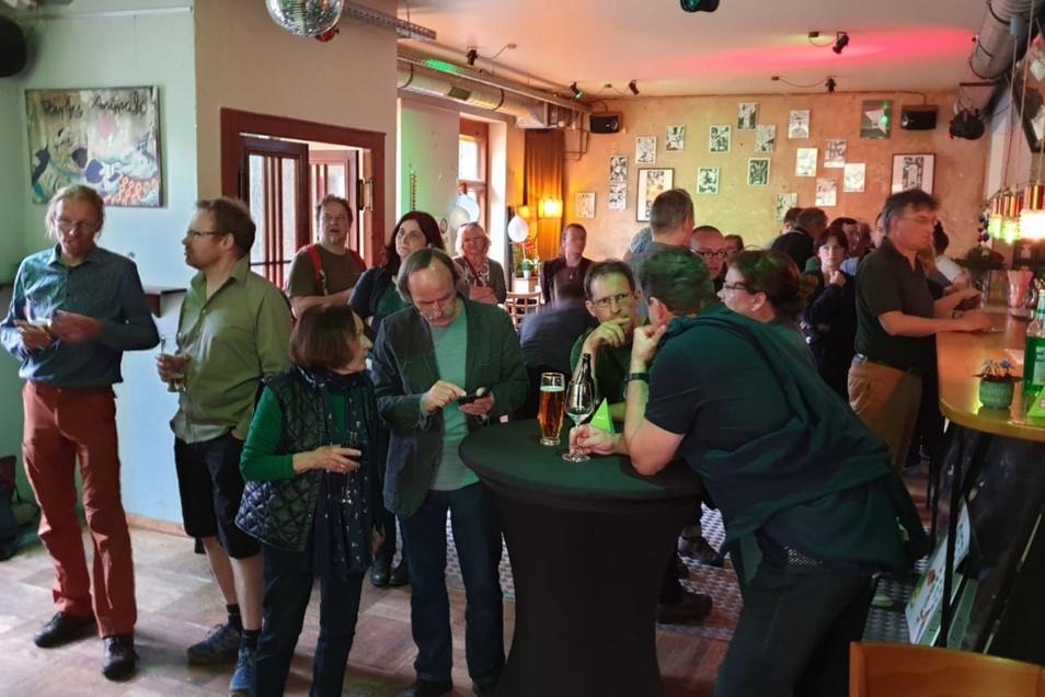 Grüne im Dresdner Alten Wettbüro.