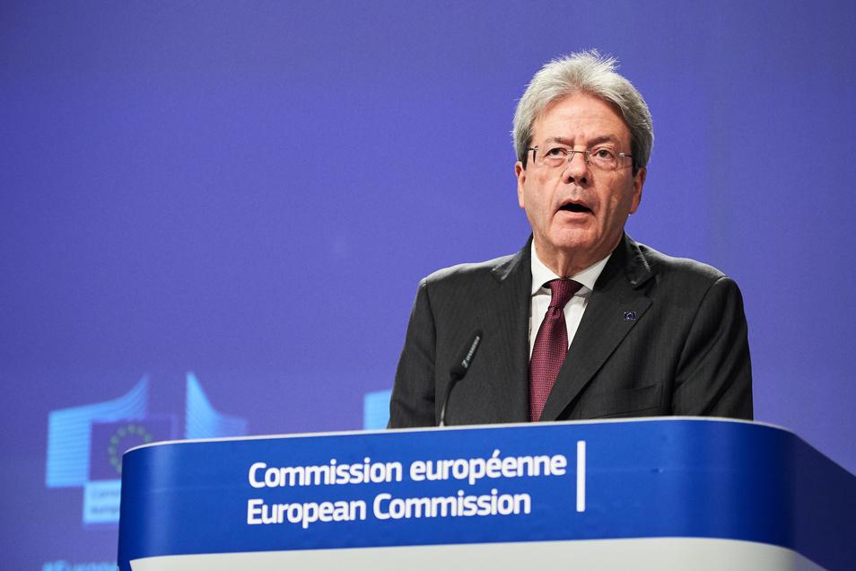 Wirtschaftskommissar Paolo Gentiloni.