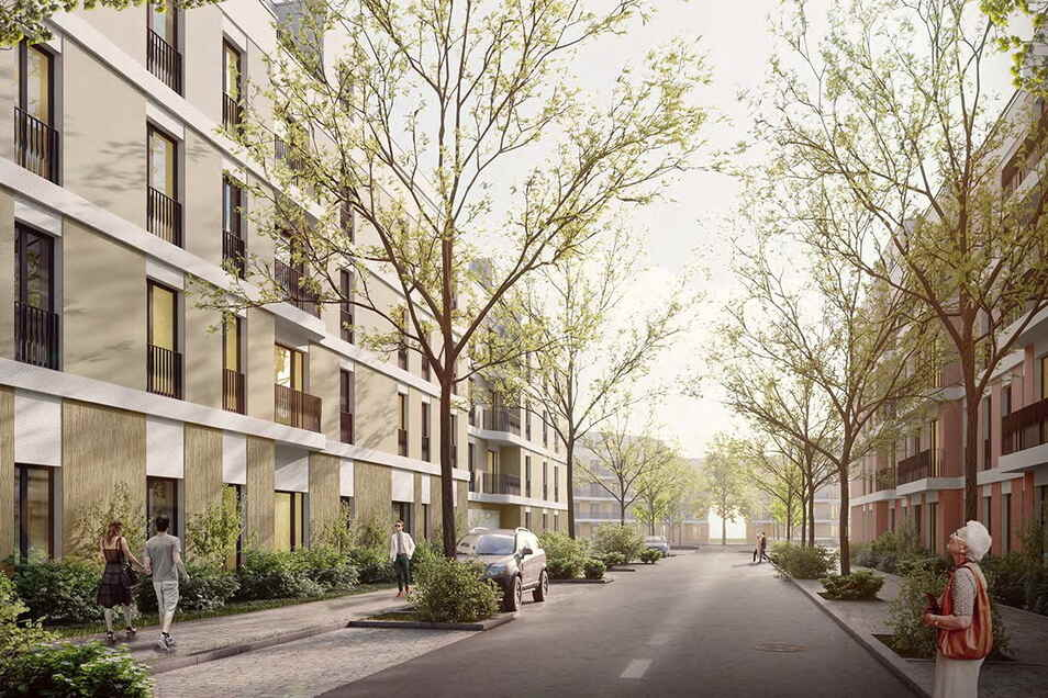 Zwischen Friedrich- und Magdeburger Straße soll ein komplett neues Wohn- und Geschäftsviertel entstehen. Hier befand sich früher das Ostravorwerk, das als Keimzelle der Friedrichstadt gilt.