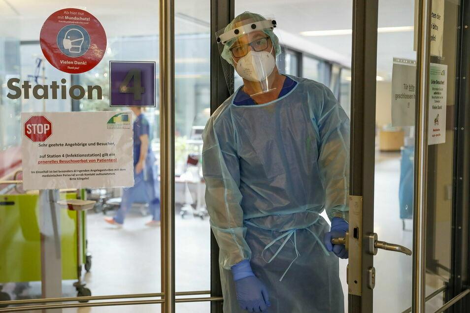 im Klinikum Oberlausitzer Bergland - hier der Standort Zittau - werden nach wie vor alle Kräfte für Corona-Patienten gebraucht.