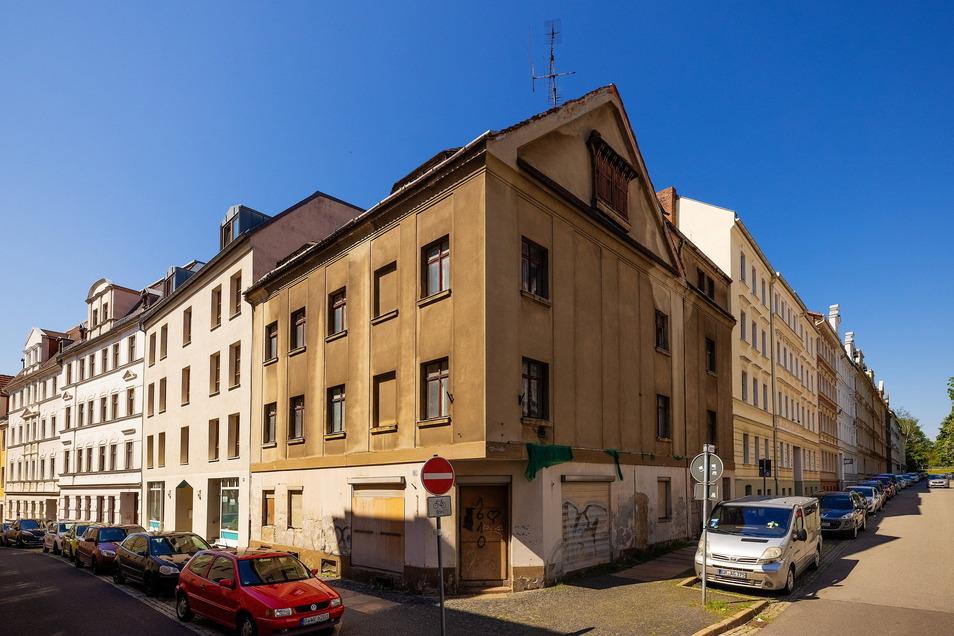 Noch gar nicht bezahlt: das Eckgebäude Hohe Straße 11 in Görlitz.
