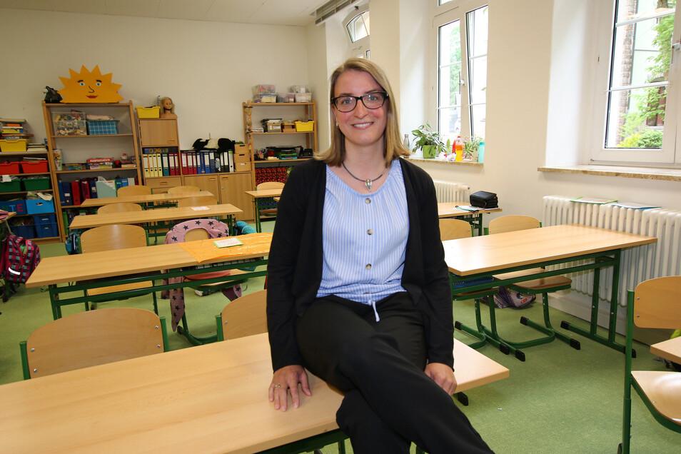 Aline Hielschers Aufgabe ist es, nach dem Neustart in der Waldheimer Grundschule bei den Schülern Lücken im Lernstoff zu erkennen und zu versuchen, diese zu schließen.