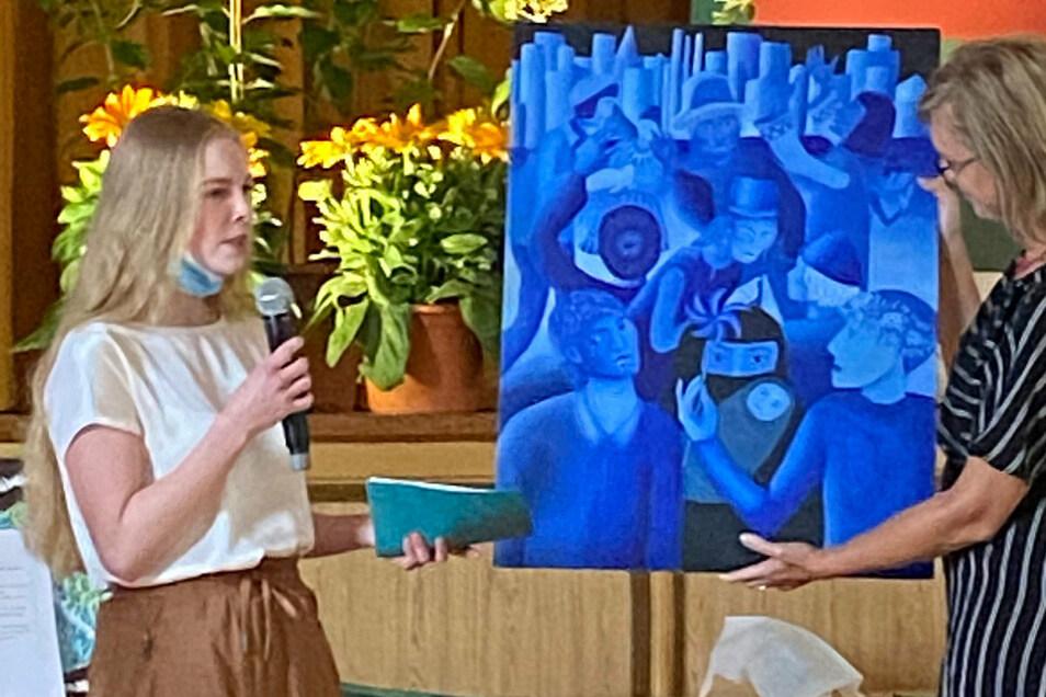 Andere Farben, ähnliche Aussagen: Elisa Otto will mit ihrem Beitrag zum Jugendfriedenspreis für Toleranz zwischen den Nationalitäten werben.