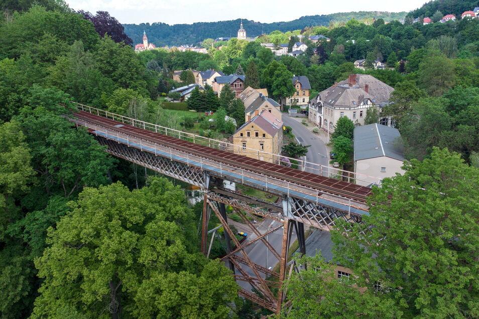 """Über die Eisenbahnbrücke zwischen Reinsdorf und Waldheim ist lange kein Zug mehr """"geschnauft"""". Das hat verschiedene Gründe."""