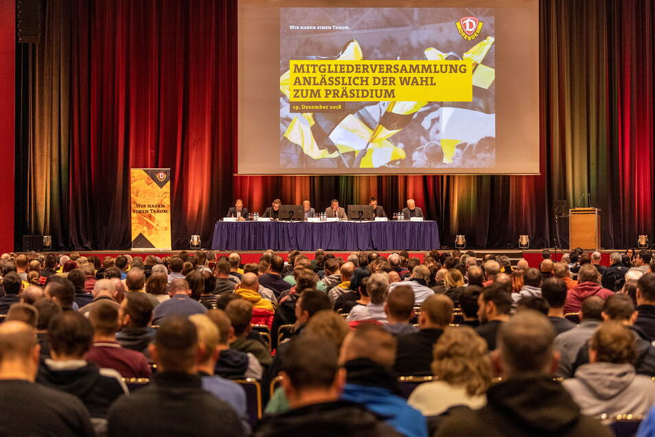Ein voller Saal bei Dynamos Mitgliederversammlung - so sah es diesmal nicht aus. Es war auch viel eher Schluss als sonst.