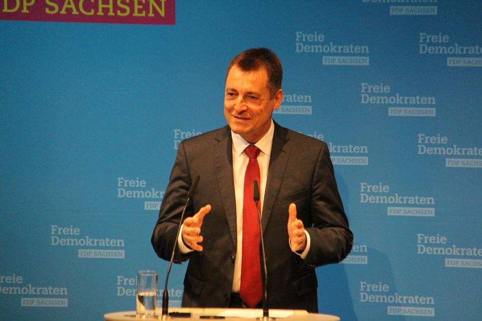 Der Bundestagsabgeordnete Torsten Herbst steht auf dem ersten Platz der Landesliste für die Wahl im September.