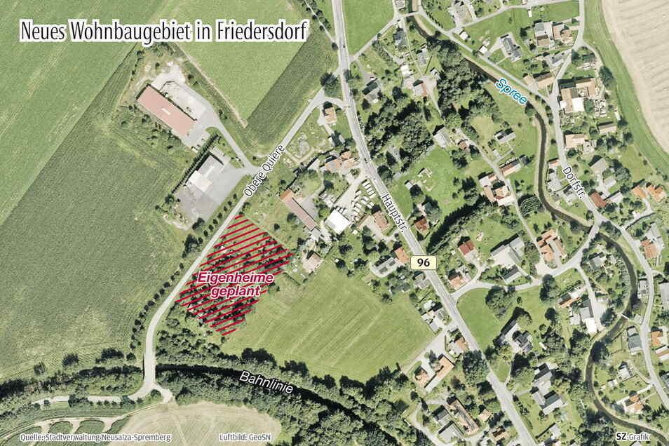 Unter anderem im Ortsteil Friedersdorf sollen neue Eigenheime entstehen. Für zwei der Grundstücke gibt es bereits Interessenten.