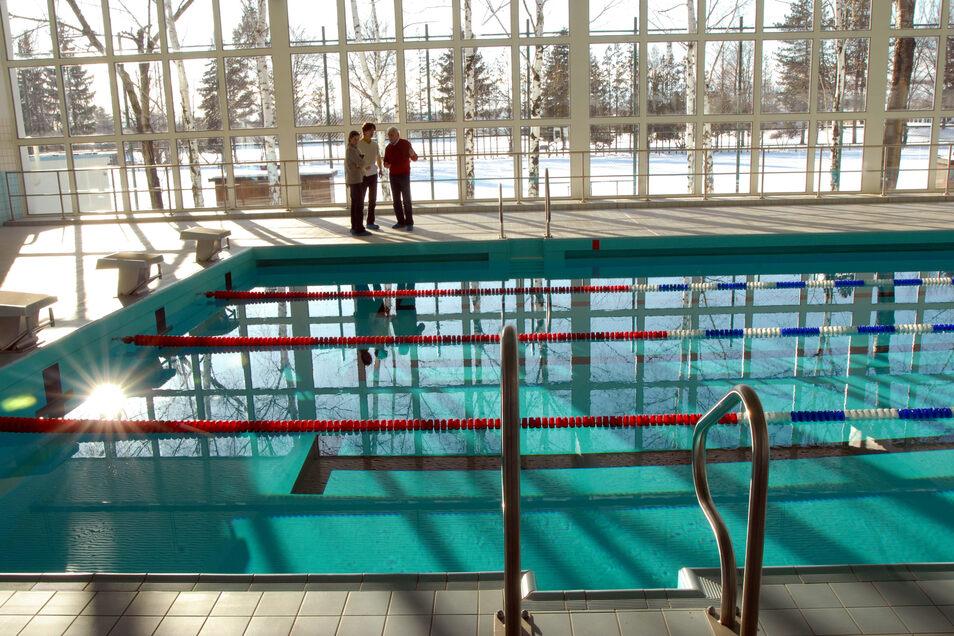 Das Becken der Schwimmhalle in Hirschfelde.