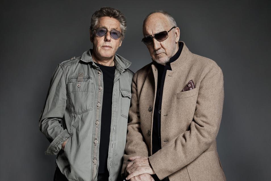 Sie sind beide Mitte 70, präsentieren sich aber auf ihrem neuen Album voller Kraft und Kreativität: Sänger Roger Daltrey (l.) und Gitarrist Pete Townshend halten ihre Band The Who weiter am Laufen.