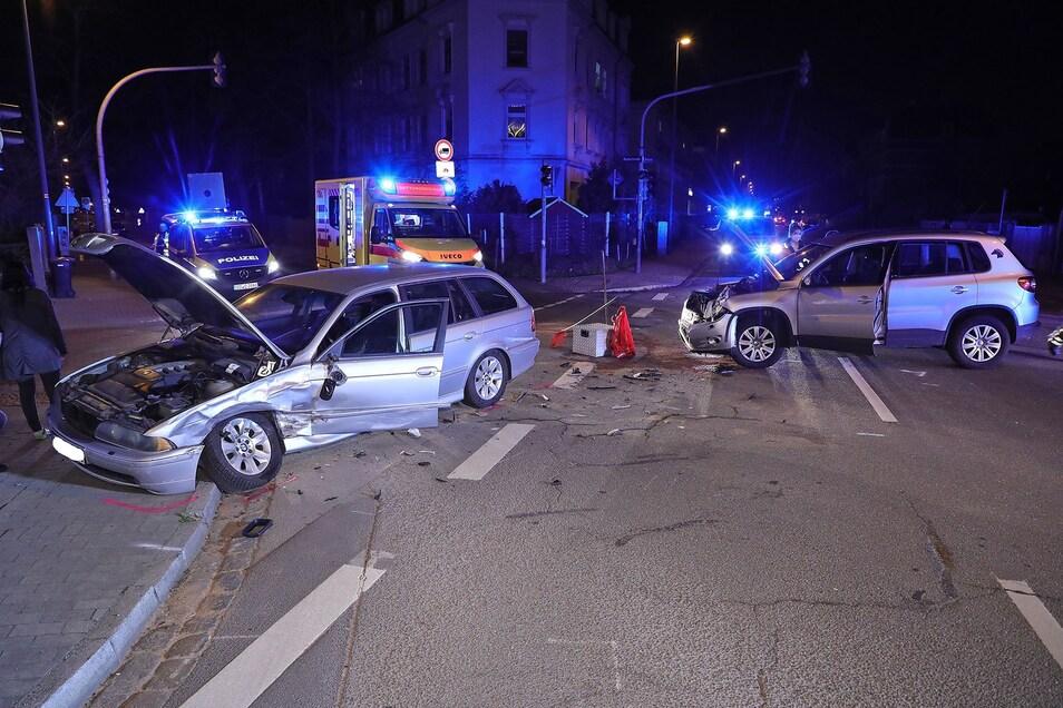 An der Kreuzung von Rankestraße und Peschelstraße kam es am Dienstagabend erneut zu einem schweren Verkehrsunfall. Anwohner sind besorgt.