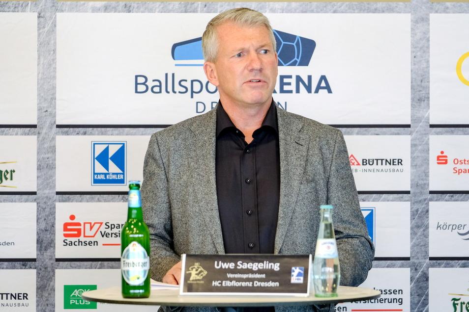 Präsident Uwe Saegeling setzt vorerst auf eine Einigung per Handschlag.