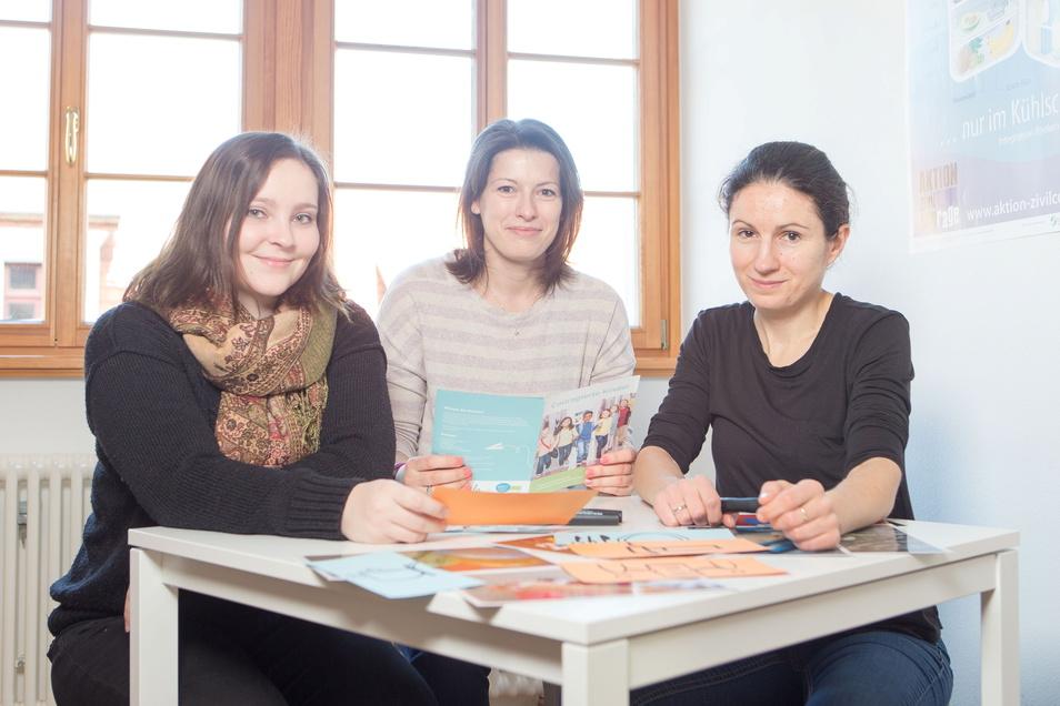 """Claudia Weichelt (Mitte), Leiterin des AZ-Projekts """"Couragierte Kinder"""": Wir wollen Kita-Pädagogen im stressigen Corona-Alltag helfen."""