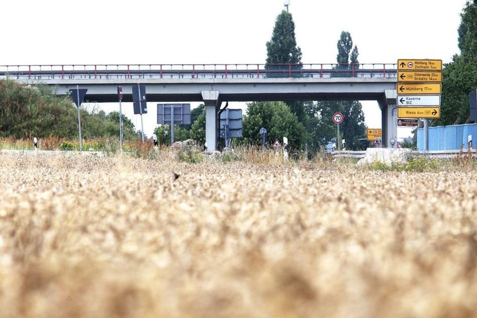 Auf der gesperrten B-169-Brücke am Rohrwerk Zeithain ereignete sich am 18.Juli ein ungewöhnlicher Unfall. Mittlerweile ist dort wieder freie Fahrt.