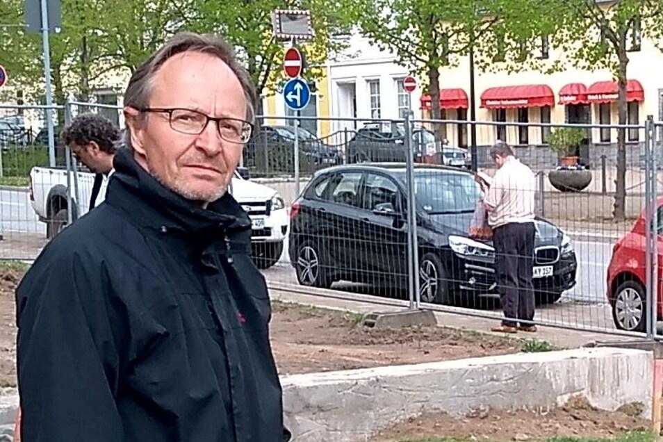 Glashüttes Bauamtsleiter Mario Wolf weiß nach der Sitzung des Stadtrates nicht, ob er im September eine neue Mitarbeiterin bekommt.