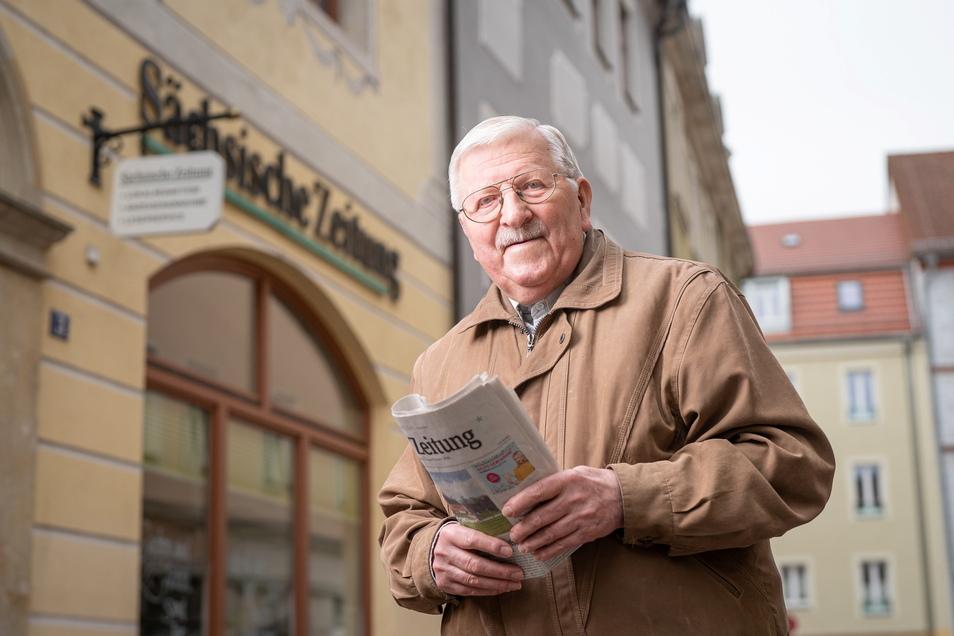 Klaus Fiedler liest Sächsische Zeitung und Sächsische.de – mit Hingabe.