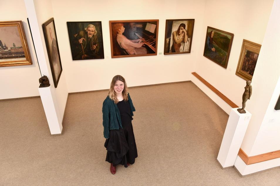 Kristin Gäbler leitet jetzt die Städtischen Sammlungen Freital auf Schloss Burgk.