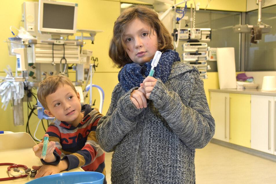 Annika und Arthur waren selbst Patienten auf der Kinder-Intensivstation. Ihnen konnten die Ärzte helfen, wieder gesund zu werden.