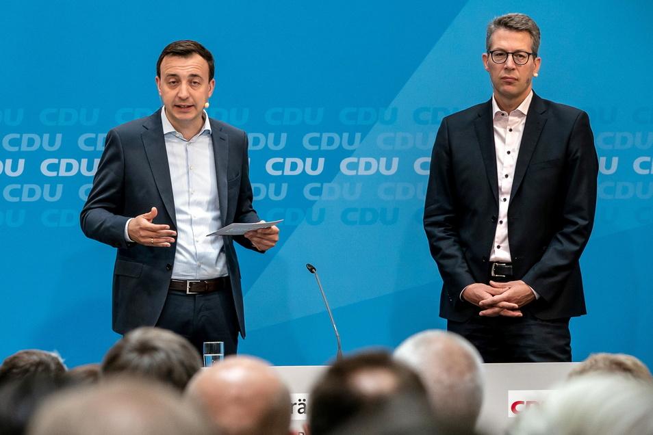 """""""Wir werden die kommenden 16 Tage dafür kämpfen, dass die Union stärkste Kraft und Armin Laschet Bundeskanzler wird"""", werben die Generalsekretäre Paul Ziemiak (CDU) und Markus Blume (CSU)."""